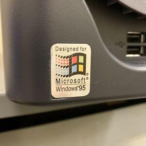 Windows 95 v2 Designed For 386 486 Computer Case Badge FLAT Sticker Retro PC