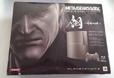 3.55 2.50 Metal Gear Solid 4 Limited LE HAGANE KONAMI Playstation 3 Console 40GB