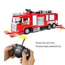 RC Feuerwehrauto ferngesteuertes Wassersprüh mit Licht Sirene Wasserspritze