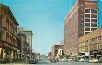 Autos First Avenue Street Scene Cedar Rapids Iowa 1958 Postcard Teich 2974