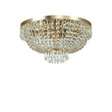 Plafoniera in cristallo classica a 6 luci collezione Caesar Oro