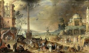 """oil painting handpainted on canvas"""" Witches' Sabbath""""N15712"""