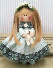 Handmade Rag doll Handmade in UK Tilda doll Ooak doll Cloth doll 6 inch tall