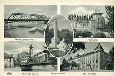 Hungary Gyor Horthy Miklos bridge & multi views