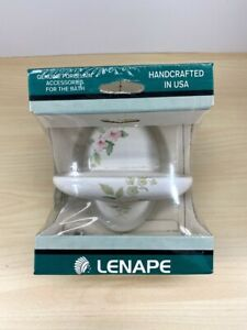 Lenape 521-50 Blossoms on White Vanity Soap Dish - Classic Series - Genuine
