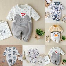Infant Kids Baby Boy&Girl Long Sleeve Cartoon Star Print Romper Jumpsuit Clothes