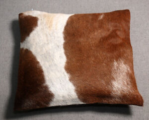 NEW COW HIDE LEATHER CUSHION COVER RUG COW SKIN Cushion Pillow Covers C-1514
