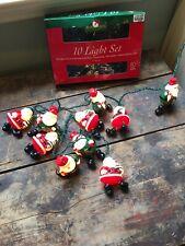 Santa Christmas String Lights Set of 10 Decoration Kurt Adler Indoor Use