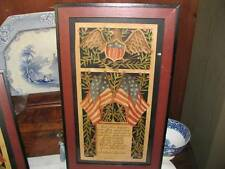 "American Patriotic Lincoln ""This Nation"" Painted Scherenschnitte Paper Cutting"