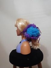 Big pink red blue purple brown flower hair clip free ship