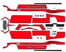 Kelly Chadwick 1971 Camaro  1/32nd Scale Slot Car Waterslide Decals