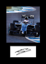 JENSON BUTTON #1 Signed Photo Print A5 Mounted Photo Print - FREE DELIVERY