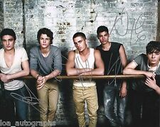 """The Wanted REAL hand SIGNED 8x10"""" promo photo A UK Boy Band Max George"""