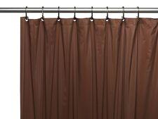 3 Gauge Vinyl Shower Curtain Liner w/ Weighted Magnets & Metal Grommets Brown