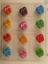 FLIP FLOPS BITE SIZE CLEAR PLASTIC CHOCOLATE CANDY MOLD OVR021