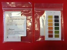 Universal pH Indicator, pH 1-14, Pack of 100 Paper Strips, Made in the UK