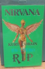 "Nirvana Commemorative Pass ""R.I.P."" 100% Original & Authentic - Kurt Cobain"