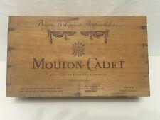 Vintage Mouton-Cadet Baron Philippe De Rothschild Wood Gift Box