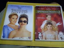 (2) Disney The Princess Diaries DVD Lot: Both Fullscreen    Anne Hathaway