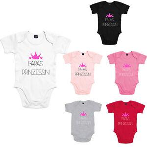 Baby Bodysuit Boddies Strampler Spruch Motiv Papas Prinzessin lustig Fun