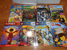 8 - LEGO - Ninjago - Chima - Super Heroes - Softcover Books