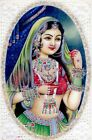Indian Miniature Portrait Of Queen Traditional Look Fine Miniature Painting