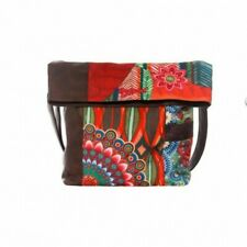 DESIGUAL WOMENS SHOPPING SHOULDER BAG HANDBAG TOTE BEADED LARGE COLORFUL NEW 166