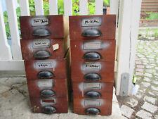 10 alte Schubladen  verzapft Holz Holzkasten Vintage Pflanzkasten
