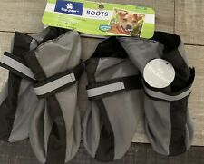 Top Paw Footwear Booties for Dogs Reflective Gray Lined Dog Boots Large