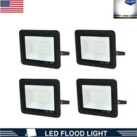 4X 50W LED Flood Light Floodlights Outdoor Yard Garden Security Lamp Cool White