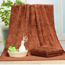 Serviettes, draps et gants de salle de bain moderne, contemporain marron