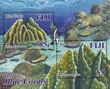 Fiji 2015 Blue Corals Marine Fauna Sea Organisms Miniature sheet MNH