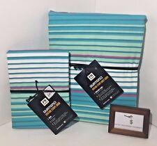 Pottery Barn Burton Venture Stripe Twin Duvet W/ Standard Sham New - Nwt