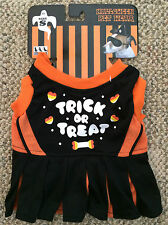"""Pets First Halloween Pet Wear Dog Size S Small 'Trick or Treat' Dress 8""""-12"""""""""""