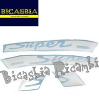 11579 ADHESIVOS ETIQUETAS BLANCA ESCRITO POR SUPER TRANSPARENTE VESPA GTS 125