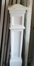 Vintage Newel Post Painted White Rounded Top Can Ship!