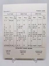 Strat-O-Matic Football Blank Quarterback Card Large Format Original