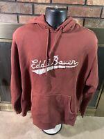 Vintage Eddie Bauer Outdoors Hooded Hoodie Sweatshirt Mens Large Vtg