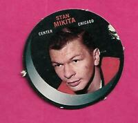 RARE 1968-69 PUCK PUSH OUTS HAWKS STAN MIKITA CARD  (INV# C4821)