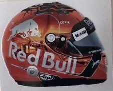 ***  MAX VERSTAPPEN  -  RED BULL / RENAULT  -  HELMET  -  F1  *** sticker