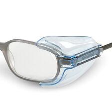 Seitenschutz für Brillen klar transparent 1 Paar aus Kunststoff Neu