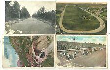Group of six 20th century race postcards 5 used 1 unused