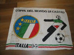 "1990 Soccer World Cup Flag banner  Vintage, ""European Football"""