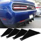 For Dodge Charger Challenger SRT RT Rear Bumper Diffuser Lip Splitter Shark Fins  for sale