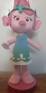 "Trolls inspired  princess POPPY cake topper centerpiece decoration 15"" tall"