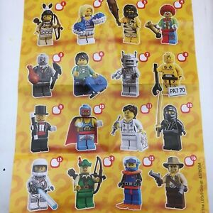 GENUINE LEGO MINIFIGURES FROM  SERIES 1 CHOOSE THE ONE YOU NEED