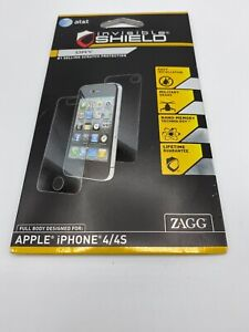 Zagg Invisible Shield Dry Apply Full Body Front + Back For Samsung Galaxy S4