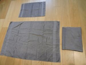 towels x 3  from TESCO 2 x bath sheets + 1 x hand towel   (grey)