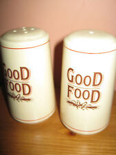 GOOD FOOD RESTAURANT SALT & PEPPER SET ADVERTISING PUB CATERING MADE IN ENGLAND