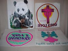 ASSORTED  VINTAGE TEE SHIRT TRANSFERS LOT OF 36  LOT#T7
